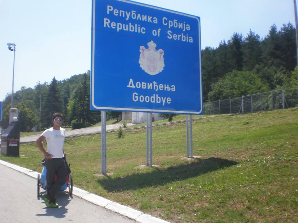 Ignasio na izlazu iz Srrbije, na granici sa Bugarskom